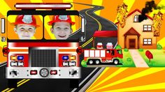 Little heroes firefighters to the rescue Bad Baby with fire truck . Litt...