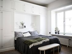Small Closet Design, Small Space Design, Bedroom Built Ins, Bedroom Storage, Home Staging, Dream Bedroom, Home Bedroom, Bedroom Cabinets, Home Office Design