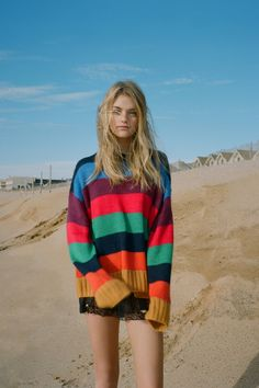 8ad6ef0743 UO Bobby Boyfriend Striped Crew-Neck Sweater