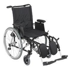 "Drive ak518ada-aelr Cougar Ultra Lightweight Rehab Wheelchair, Elevating Leg Rests, 18"" Seat"