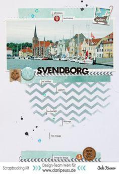 #papercrafting #scrapbook #layout idea: Svendborg by AnkeKramer at @studio_calico