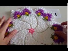 Çiçekli Rüzgar Gülü Lif Yapımı - YouTube