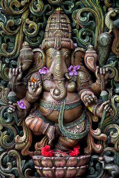 Ganesha of Kauais Hindu Monastery by Christian Del Rosario. Kauai