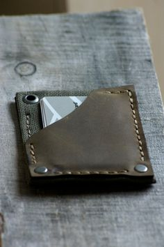 Mens Leather Wallet Boise Handmade Leather Wallet by simpleflychic
