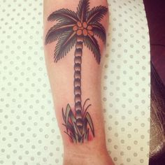 Traditional sailor jerry palm tree