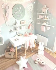 Bright, modern interior for children - Babyzimmer Madchen - Country Recipes Baby Bedroom, Baby Room Decor, Girls Bedroom, Kids Bedroom Furniture, Home Decor Bedroom, Children Furniture, Rustic Furniture, Luxury Furniture, Antique Furniture
