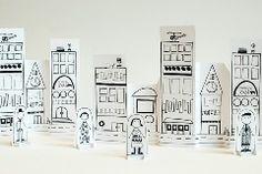 Basteln und spielen mit Papier