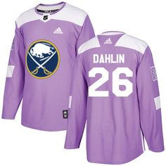 Adidas Sabres  26 Rasmus Dahlin Purple Authentic Fights Cancer Stitched NHL  Jersey Logan 5e463e5c8