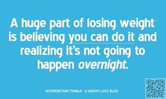 3. Never #Overnight - Want to Lose Weight? #Inspiring Quotes to Hang on… #Leafy