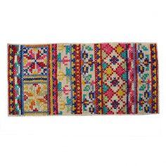 Buy Pattern Folk Cross Stitch Rug from Oliver Bonas