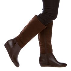 These classic brown boots are delish