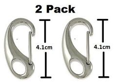 2 Pack Steel Wiregate Spring Carabiner, 4.1cm, 316 Stainless Steel Wiregate Carabiner, Key Ring Keychain Split Rings Belt Loops Pants Loops Quick Slides Release Spring Keys Hook Link Snap Clip Connector SS, BRAND NEW * Continue to the product at the image link.