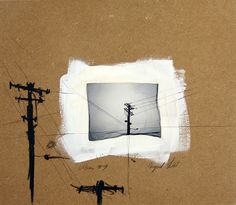 Urban Series - mixed media artwork polaroid emulsion lift and drawing. $42.00, via Etsy.