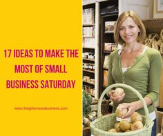 Make the most of Small Business Saturday with my 17 marketing ideas for small businesses you can use right now - join in and get your share of the action!