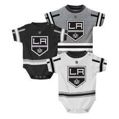 Infant Los Angeles Kings 3-Pack Creeper Set