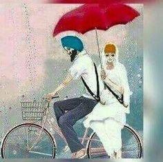 Punjabi Boys, Punjabi Couple, Couple Drawings, Love Drawings, Sketches Of Love, Art Sketches, Punjabi Memes, Punjabi Quotes, Whatsapp Dp In Punjabi