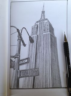 Empire State Building, New York Sketch drawing