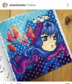 Manga Coloring Book, Mermaid Coloring Book, Adult Coloring, Coloring Books, Manga Mermaid, Sea Creatures, Camilla, Mermaids, Art Reference