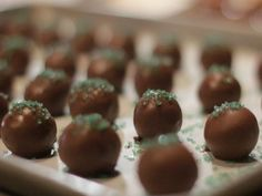 Mint Chocolate Truffles from The Pioneer Woman    Tune-in Saturdays at 10a 9c!