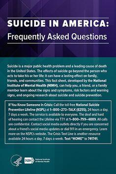 Suicide in America - FAQ cover image
