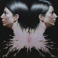 Taisuke Mohri, Skin Portrait # 2, pencil on paper, 73x73cm, 2013