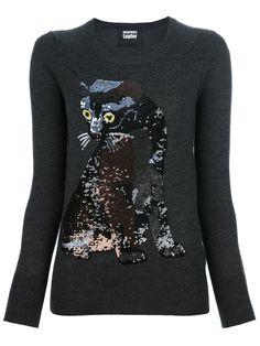 Markus Lupfer 'Felix' sequin cat sweater
