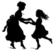 Silhouettes of women and children.  |  Creative Workshop Marina Trublinoy