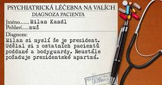 Milan si myslí že je prezident. Udělal si z ostatních pacientů poddané a bodyguardy. Neustále požaduje prezidentské apartmá.