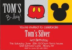 Mickey Mouse Party Invitations with FREE Return by InvitesLaVue, $1.00
