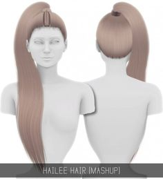 Hailee High Ponytail Hair Mashup for The Sims 4