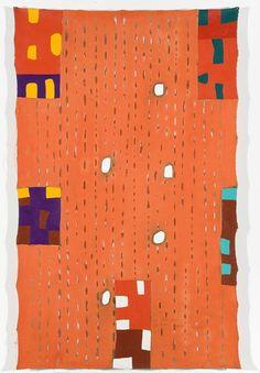 Os rios por meu fluido entrego meu coração, 1991, acrílica sobre lona, 160 x 103 cm, na Estação Pinacoteca