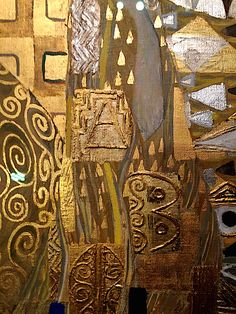 Detail of Klimt's Woman in Gold