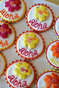 Aloha Summer Birthday - Dessert Table Details