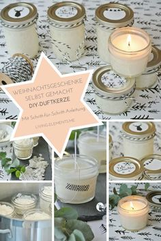 DIY scented candle in a glass in 5 steps - instructions - DIY-scented-candle-in-a-glass-homemade Informations About DIY-Duftkerze im Glas in 5 Schritten selbs - Diy Candles Scented, Aromatherapy Candles, Coffee Candle, Diy For Teens, Candle Making, Diy Gifts, Christmas Diy, Diy And Crafts, Easy Diy