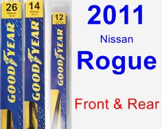 Front & Rear Wiper Blade Pack for 2011 Nissan Rogue - Premium