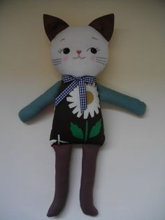 CAT SOFTIE PLUSH Toy  Adorable soft toy by PalookaHandmade on Etsy, $39.00