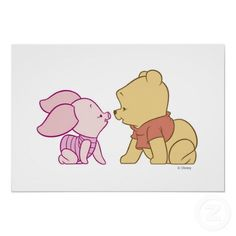 Winnie The Pooh Pooh and Piglet crawling print