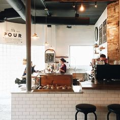 Glen edith coffee roasters, rochester ny: shop design idea в My Coffee Shop, Coffee Shop Design, Coffee Cafe, Cafe Design, Coffee Shops, Store Design, Restaurant Design, Restaurant Bar, Barista