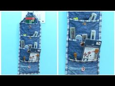 DIY Multipurpose Organizer form Old Jeans/Denim – Old Jeans Reuse Ideas - Decoration landscaping architectural and artistic designs & decoration videos Diy Jeans, Jean Crafts, Denim Crafts, Old Jeans Recycle, Craft From Waste Material, Fabric Glue, Old Clothes, Recycled Denim, Diy For Girls