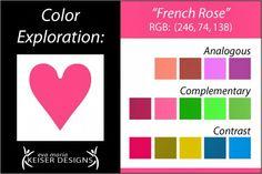 Eva Maria Keiser Designs: Explore Color:  French Rose