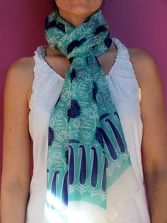 Fular seda azul aguamarina from Kyrenia