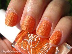 JulieG Tangerine Dream by the painted ninja, via Flickr #thepaintedninja #nailpolish