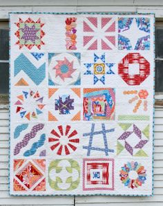 Amy Gibson's BOM quilt.  Her quilts are fun and vibrant.