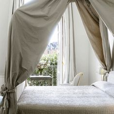 The Paper Mulberry: The Fabulous French Chateau. The draped canopy is just dreamy.