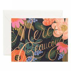 Rifle Paper Co. Bordeaux Thanks Card
