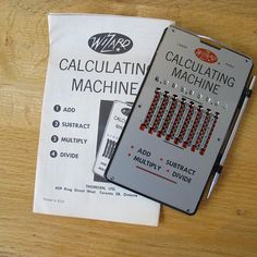 Wizard Calculating Machine Mechanical Calculator With Instructions Calculatorvintage Officeslide Ruleoffice Supplies