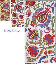 """Filiz Türkocağı, Author of """"Embroidery in Iznik. - It Was A Work of Craft Cross Stitch Borders, Cross Stitch Flowers, Cross Stitch Designs, Cross Stitching, Cross Stitch Patterns, Folk Embroidery, Cross Stitch Embroidery, Embroidery Patterns, Tapestry Crochet"""
