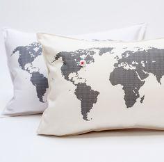 m a p   p i l l o w - pi'lo #pillow