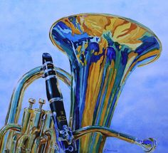 Tuba and clarinet painting