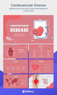 Raise awareness about Cardiovascular Diseases using this abstract template. Download it as Google Slides theme or PowerPoint template.  #Slidesgo #FreepikCompany #freepresentation #freetemplate #presentations #themes #templates #GoogleSlides #PowerPoint #GoogleSlidesThemes #PowerPointTemplate #Medical #Heart #Disease Cute Powerpoint Templates, Free Powerpoint Presentations, Powerpoint Slide Designs, Powerpoint Themes, Presentation Design Template, Presentation Layout, Presentation Slides, Abstract Template, Powerpoint Background Design